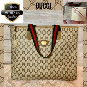Gucci tote bag large pvc leather laptop business